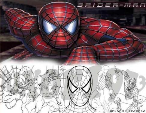 Раскраски для мальчиков человек паук